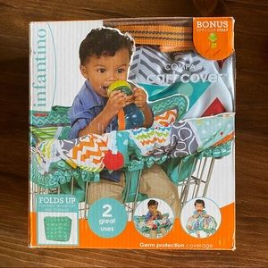 NIB INFANTINO COMPACT GROCERY CART COVER